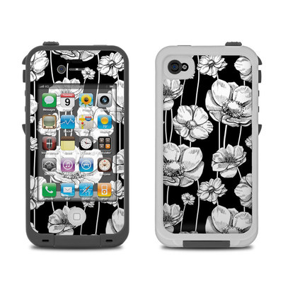 Lifeproof iPhone 4 Case Skin - Striped Blooms