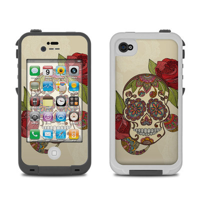 Lifeproof iPhone 4 Case Skin - Sugar Skull