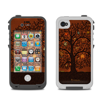 Lifeproof iPhone 4 Case Skin - Tree Of Books