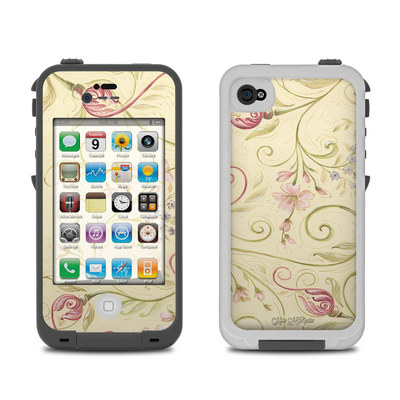 Lifeproof iPhone 4 Case Skin - Tulip Scroll