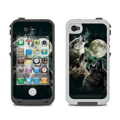 Lifeproof iPhone 4 Case Skin - Three Wolf Moon