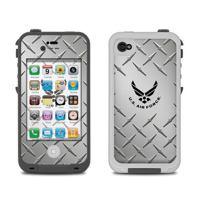 Lifeproof iPhone 4 Case Skin - USAF Diamond Plate