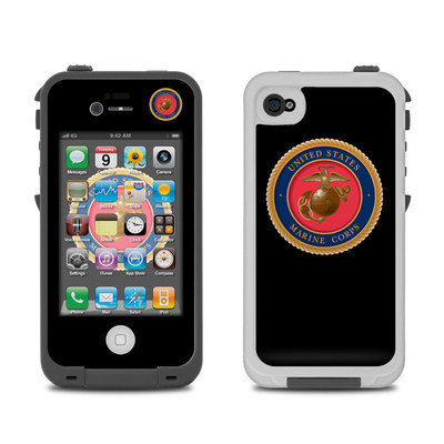 Lifeproof iPhone 4 Case Skin - USMC Black