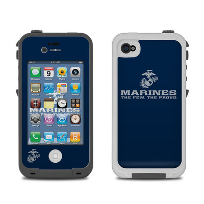Lifeproof iPhone 4 Case Skin - USMC Blue