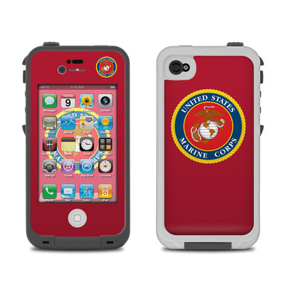 Lifeproof iPhone 4 Case Skin - USMC Red