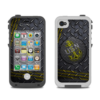 Lifeproof iPhone 4 Case Skin - USN Diamond Plate