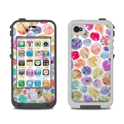 Lifeproof iPhone 4 Case Skin - Watercolor Dots