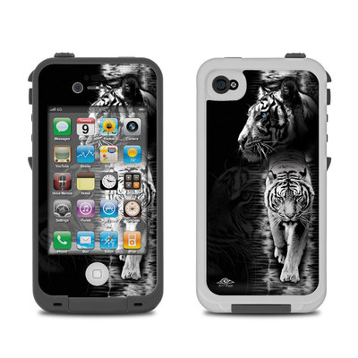 Lifeproof iPhone 4 Case Skin - White Tiger