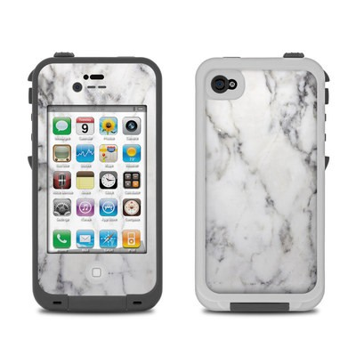 Lifeproof iPhone 4 Case Skin - White Marble