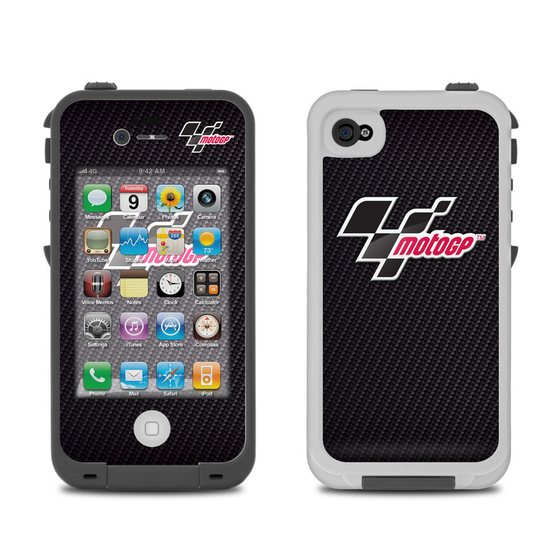 Lifeproof Iphone 4 Case Skin Motogp Carbon Logo By Motogp Decalgirl
