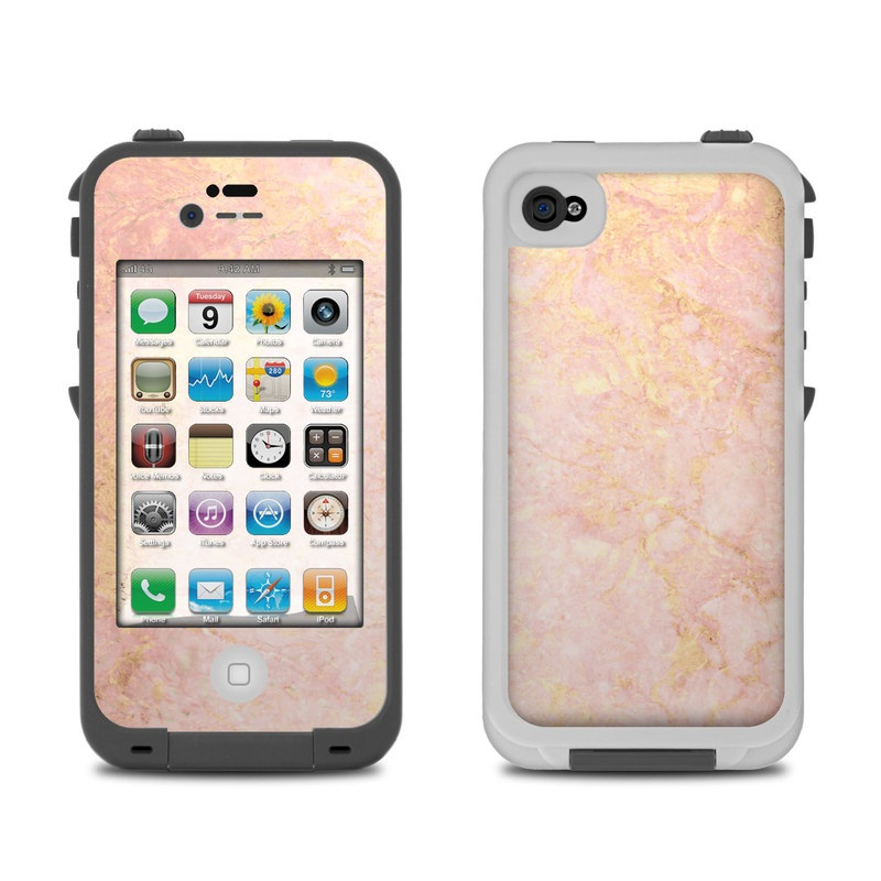 Lifeproof Iphone 4 Case Skin Rose Gold Marble By Marble