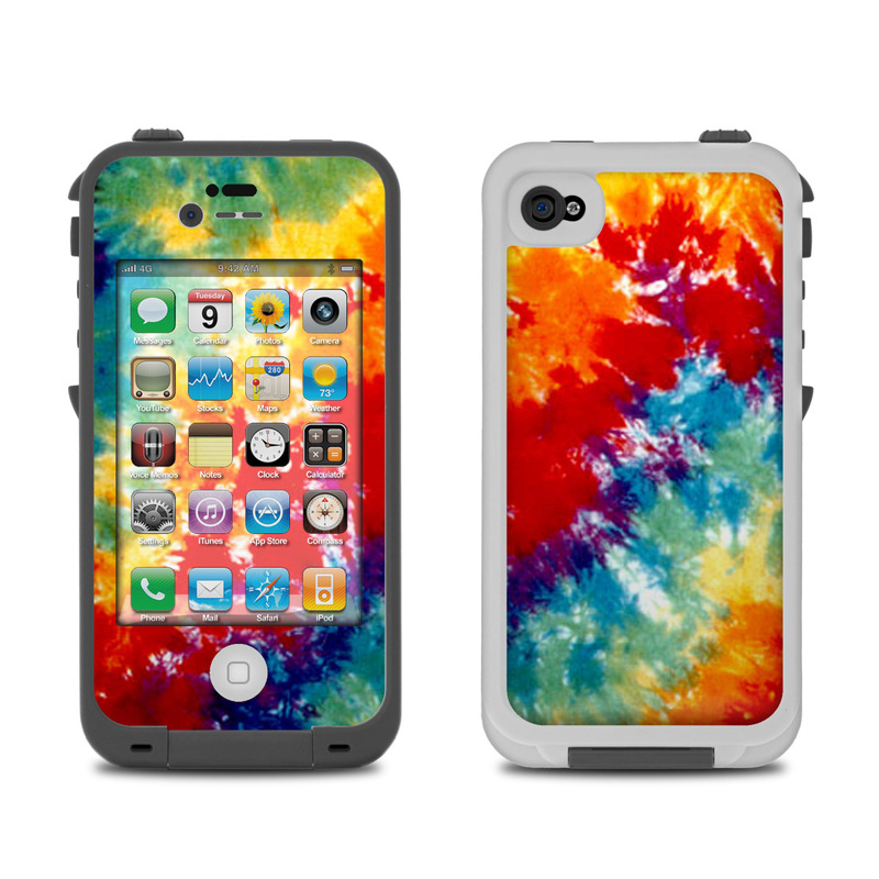 Lifeproof iPhone 4 Case Skin - Tie Dyed by Retro : DecalGirl