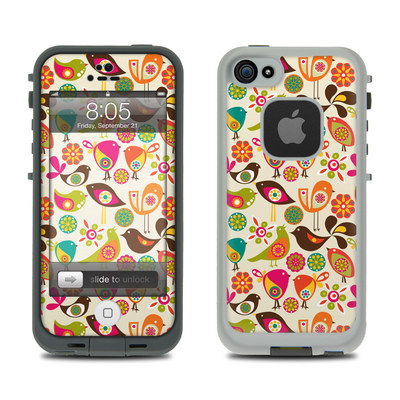 Lifeproof iPhone 5 Case Skin - Bird Flowers