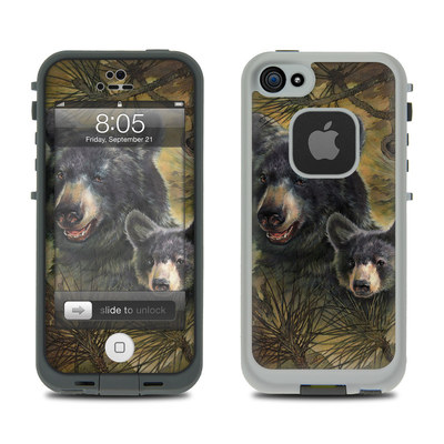 Lifeproof iPhone 5 Case Skin - Black Bears