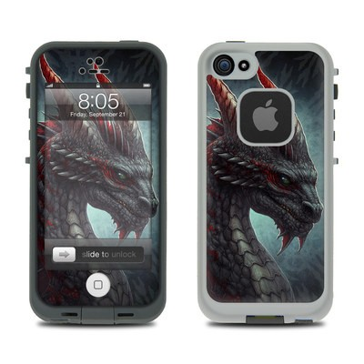 Lifeproof iPhone 5 Case Skin - Black Dragon