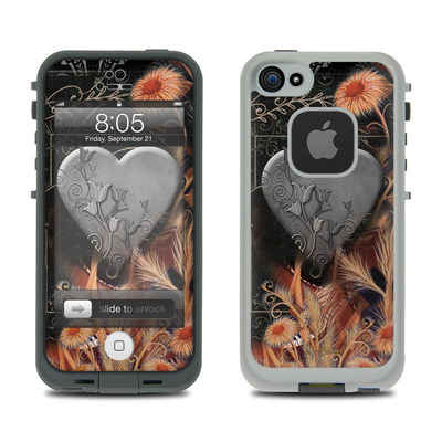 Lifeproof iPhone 5 Case Skin - Black Lace Flower