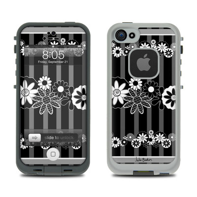 Lifeproof iPhone 5 Case Skin - Black Retro