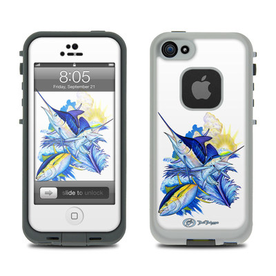 Lifeproof iPhone 5 Case Skin - Blue White and Yellow