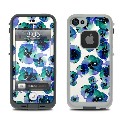 Lifeproof iPhone 5 Case Skin - Blue Eye Flowers