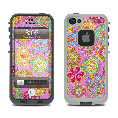 Lifeproof iPhone 5 Case Skin - Bright Flowers