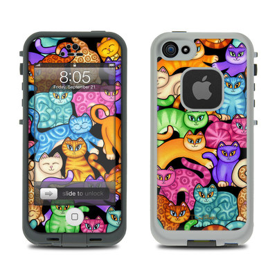 Lifeproof iPhone 5 Case Skin - Colorful Kittens