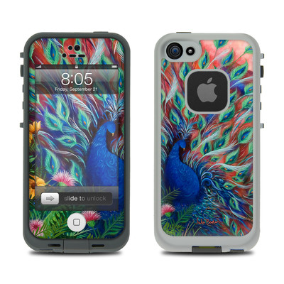 Lifeproof iPhone 5 Case Skin - Coral Peacock