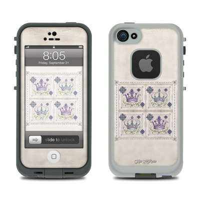 Lifeproof iPhone 5 Case Skin - Purple Crown