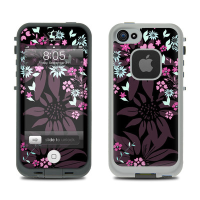 Lifeproof iPhone 5 Case Skin - Dark Flowers