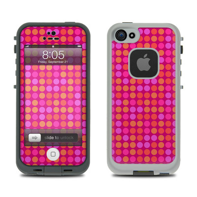 Lifeproof iPhone 5 Case Skin - Dots Pink