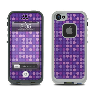 Lifeproof iPhone 5 Case Skin - Dots Purple
