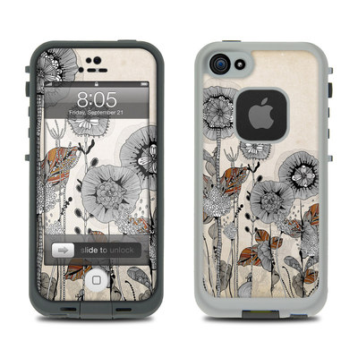 Lifeproof iPhone 5 Case Skin - Four Flowers
