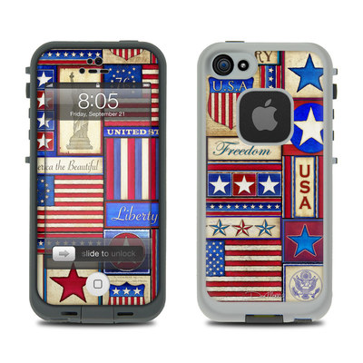 Lifeproof iPhone 5 Case Skin - Flag Patchwork