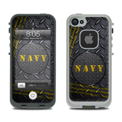 Lifeproof iPhone 5 Case Skin - Navy Diamond Plate
