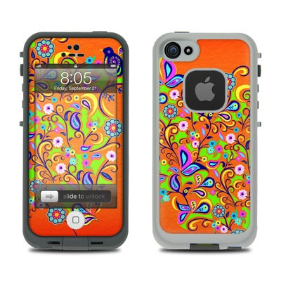 Lifeproof iPhone 5 Case Skin - Orange Squirt