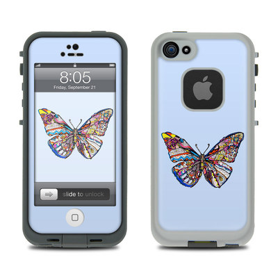Lifeproof iPhone 5 Case Skin - Pieced Butterfly