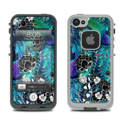 Lifeproof iPhone 5 Case Skin - Peacock Garden