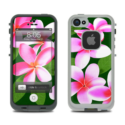 Lifeproof iPhone 5 Case Skin - Pink Plumerias