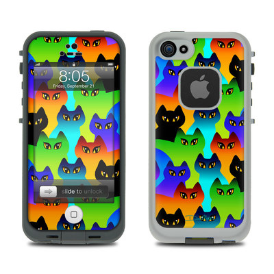 Lifeproof iPhone 5 Case Skin - Rainbow Cats