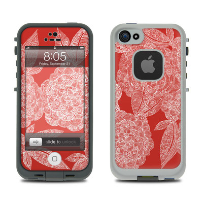 Lifeproof iPhone 5 Case Skin - Red Dahlias