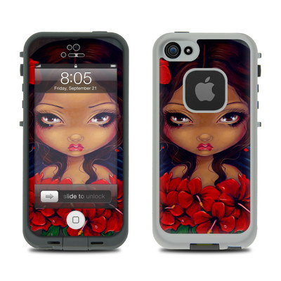 Lifeproof iPhone 5 Case Skin - Red Hibiscus Fairy