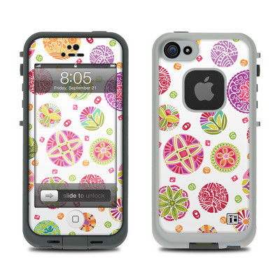 Lifeproof iPhone 5 Case Skin - Round Flowers