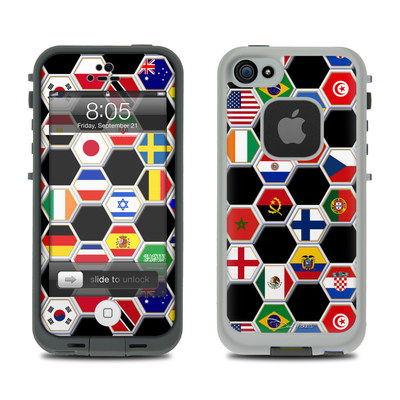 Lifeproof iPhone 5 Case Skin - Soccer Flags