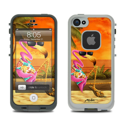 Lifeproof iPhone 5 Case Skin - Sunset Flamingo