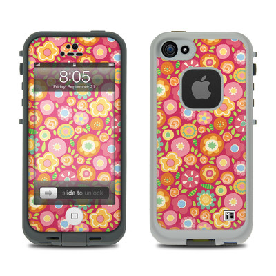Lifeproof iPhone 5 Case Skin - Flowers Squished