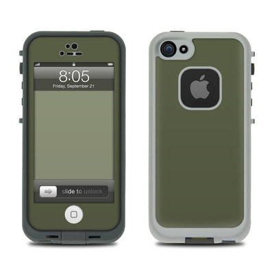 Lifeproof iPhone 5 Case Skin - Solid State Olive Drab