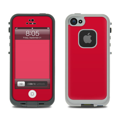 Lifeproof iPhone 5 Case Skin - Solid State Red