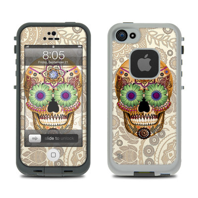 Lifeproof iPhone 5 Case Skin - Sugar Skull Bone