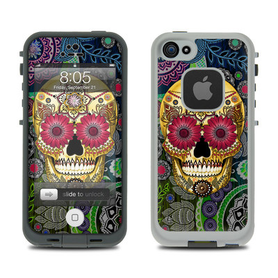 Lifeproof iPhone 5 Case Skin - Sugar Skull Paisley