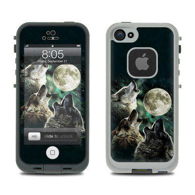 Lifeproof iPhone 5 Case Skin - Three Wolf Moon