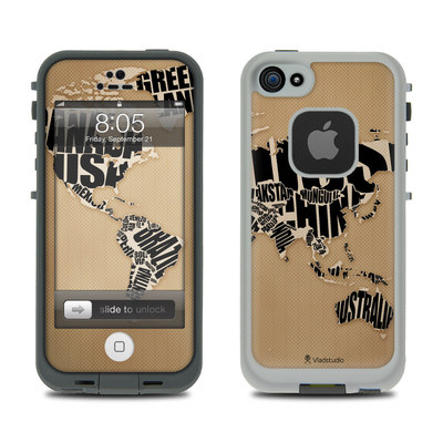 Lifeproof iPhone 5 Case Skin - Type Map